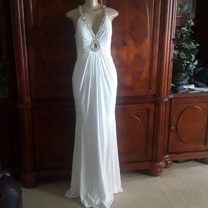 Beautiful White Wedding Dress simple elegant